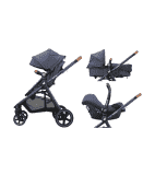 MAXI-COSI Wózek wielofunkcyjny 3w1 Zelia + Cabriofix – Sparkling Blue 2019