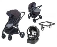 CHICCO Kočárek trojkombinace Urban Plus Crossover Anthracite + Auto-Fix Fast