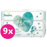 PAMPERS Aqua Pure vlhčené ubrousky 9 x 48 ks