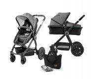 KINDERKRAFT Wózek wielofunkcyjny 2w1 Veo – Black/Grey
