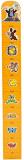 WIKY Metr dětský dřevěný na zeď - žlutá