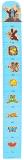 WIKY Metr dětský dřevěný na zeď - modrá