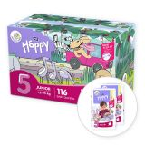 BELLA HAPPY Junior 5 Big TOY BOX  (12-25 kg) 116 ks - jednorazové plienky