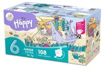 BELLA HAPPY Junior 6 Big TOY BOX (16+ kg), 108 ks – jednorazové plienky