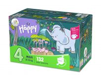 BELLA HAPPY Maxi 4 Big TOY BOX (8-18 kg) 132 ks - jednorázové plienky