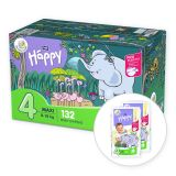 BELLA HAPPY Maxi 4 Big TOY BOX (8-18 kg) 132 ks - jednorazové plienky