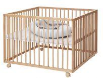 BABYDAN Kojec drewniany Comfort Large 99 x 99 x 73 cm – natur