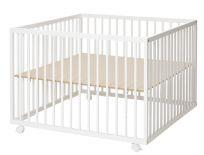 BABYDAN Kojec drewniany Comfort Large 99 x 99 x 73 cm – white