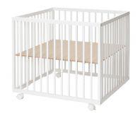 BABYDAN Kojec drewniany Comfort Medium 79x79x73 cm – white