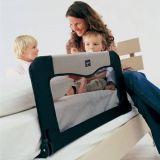 BABYDAN Cestovní zábrana k posteli+taška 90 cm, černá