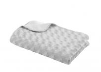 BABYDAN Detská deka double fleece obojstranná 75x100, grey