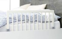 BABYDAN Zábrana k posteli dřevěná white 45x90 cm