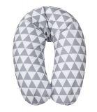 BABYMATEX Polštář na kojení Relax bílo-šedá, 170cm