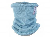 LITTLE ANGEL Nákrčník pletený tenký Outlast ® vel.4, 46-48 cm sv.tyrkysová