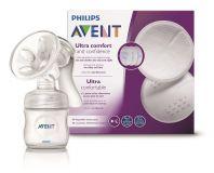 Philips AVENT Odsávačka mateřského mléka Natural se zásobníkem 125 ml + DÁREK Prsní vložky 60 ks