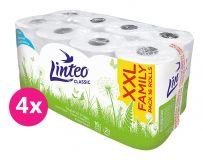 4x LINTEO Toaletný papier 2-vrstvový (16 ks) 15 m - biely