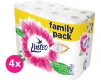 4x LINTEO Papier toaletowy 2-warstwowy (24 szt.) 19 m – biały