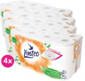 4x LINTEO Toaletní papír 3-vrstvý (16 ks) 15 m – bílý