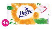 4x LINTEO Papier toaletowy 3-warstwowy (16 szt.) 15 m – biały