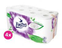 4x LINTEO Toaletný papier 3-vrstvový (16 ks) 20 m - biely