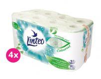 4x LINTEO Papier toaletowy 3-warstwowy (16 szt.) 20 m – zielony