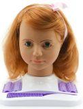 TEDDIES Głowa do czesania Hamiro duża, rude włosy z dodatkami w pudełku 24 x 28 x 19 cm