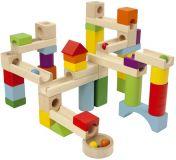 DETOA Kuličková dráha dřevo 58 ks v krabici 30 x 20 x 6 cm