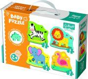 TREFL Puzzle baby Safari 4 ks, 2+