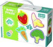 TREFL Puzzle baby Warzywa i owoce 2 szt. w pudełku 27 x 19 x 6 cm 1+