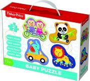 TREFL Puzzle baby Fisher-Price zvířátka 2 ks v krabici 27 x 19 x 6 cm 1+