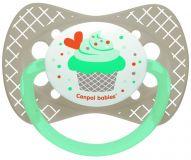 CANPOL BABIES Dudlík silikonový symetrický 18m+ Cupcake – šedý