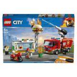 LEGO® City Fire 60214 Zásah hasičov vburgrárni
