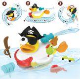 YOOKIDOO Kreatívna plávacia kačička 24m+Pirát
