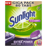 SUNLIGHT All in One Expert Extra Lemon 80 ks – tablety do umývačky riadu