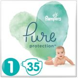 PAMPERS Pure Protection S1, 35 szt. (2-5 kg) – pieluchy jednorazowe