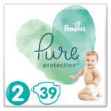 PAMPERS Pure Protection S2, 39 ks (4-8 kg) – jednorazové plienky