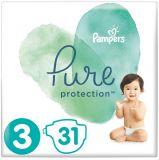 PAMPERS Pure Protection S3, 31 ks (6-10 kg) – jednorázové pleny