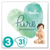 PAMPERS Pure Protection S3, 31 ks (6-10 kg) – jednorazové plienky