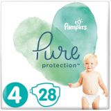 PAMPERS Pure Protection S4, 28 ks (9-14 kg) – jednorázové pleny