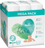 PAMPERS Pure Protection S2, 117 ks (4-8 kg) – jednorazové plienky