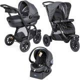 CHICCO Wielofunkcyjny wózek dziecięcy 3w1 Trio Activ 3 z adapterem dla gondoli do samochodu – Iron