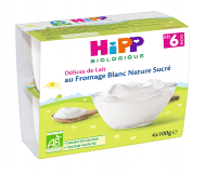 HiPP BIO Mléčný dezert tvarohový 4x100 g