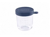 BEABA Słoiczek szklany z hermetycznym zamknięciem 250 ml – ciemnoniebieski