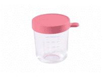 BEABA Słoiczek szklany z hermetycznym zamknięciem 250 ml – ciemnoróżowy