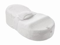 RED CASTLE Ergonomiczny materac dla niemowląt CocoonaBaby + poszewka – biała