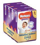 HUGGIES® Pants Jumbo 6 (15-25 kg), MĚSÍČNÍ ZÁSOBA 120 ks - plenkové kalhotky