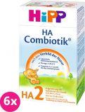 6x HIPP HA 2 Combiotik (500 g) – hypoalergénne dojčenské mlieko