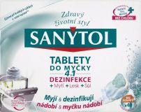 SANYTOL 4v1 tablety do umývačky riadu 40 dávok