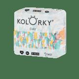 KOLORKY  DAY - štětce - XL (12-16 kg) - 136 ks MĚSÍČNÍ ZÁSOBA - jednorázové eko plenky