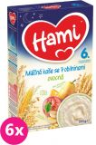 6x HAMI Kaše na dobrou noc obilná s ovocem (225 g) - mléčná kaše